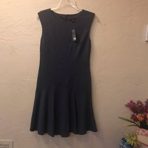 Ann Taylor 2P bluish gray color flounce dress